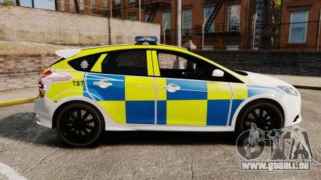 Ford Focus 2013 Uk Police [ELS] für GTA 4 linke Ansicht
