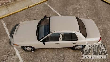 Ford Crown Victoria 1998 v1.1 pour GTA 4 est un droit