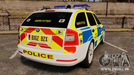 Skoda Octavia RS Metropolitan Police [ELS] pour GTA 4 Vue arrière de la gauche