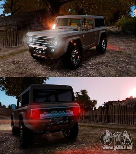 Ford Bronco Concept 2004 für GTA 4 Unteransicht
