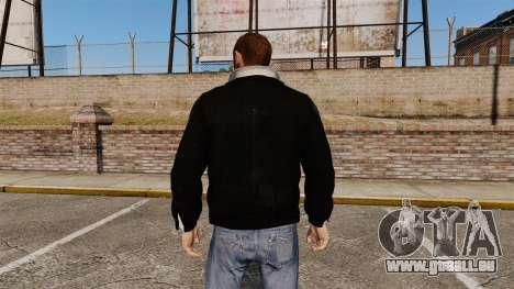 Veste en cuir noir pour GTA 4 secondes d'écran