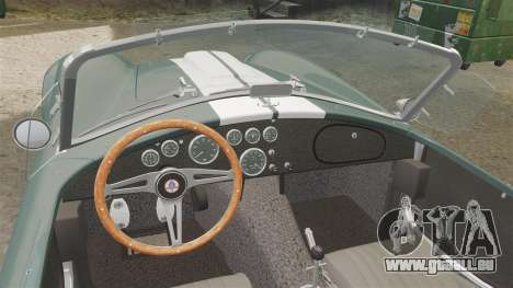 Shelby Cobra 427 SC 1965 pour GTA 4 Vue arrière