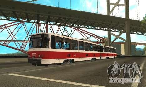 Tatra T6B5 für GTA San Andreas linke Ansicht