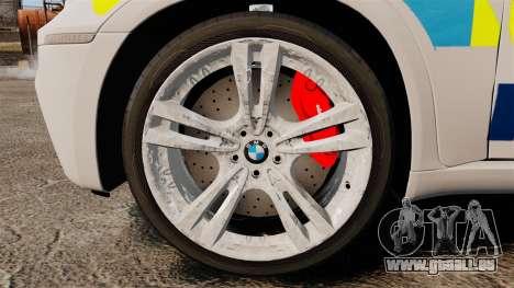 BMW X5 City Of London Police [ELS] für GTA 4 Rückansicht
