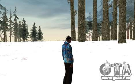 Sotschi 2014-Jacke für GTA San Andreas her Screenshot