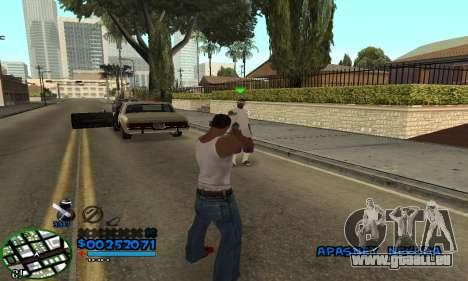 C-HUD CutHot pour GTA San Andreas troisième écran