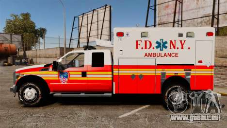 Ford F-350 2013 FDNY Ambulance [ELS] pour GTA 4 est une gauche