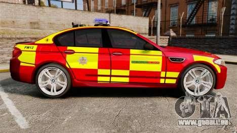 BMW M5 West Midlands Fire Service [ELS] pour GTA 4 est une gauche