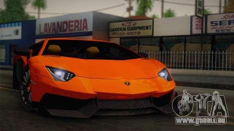 Lamborghini Aventador LP 700-4 RENM Tuning pour GTA San Andreas vue arrière