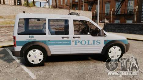 Ford Transit Connect Turkish Police [ELS] für GTA 4 linke Ansicht