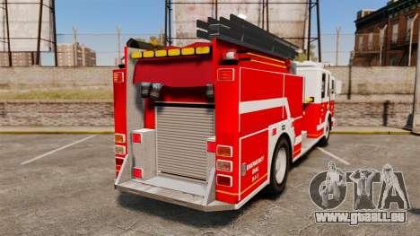 Firetruck Alderney [ELS] pour GTA 4 Vue arrière de la gauche