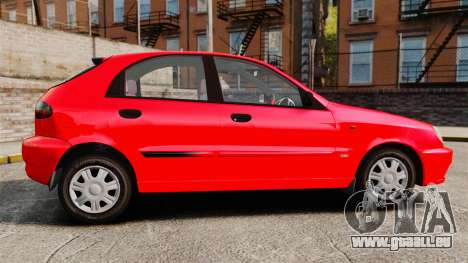 FSO Lanos Plus 2007 Limited Version pour GTA 4 est une gauche