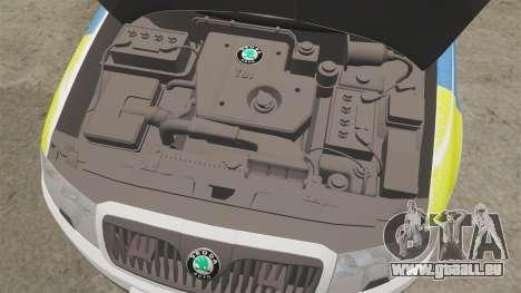 Skoda Superb 2006 Police [ELS] Whelen Justice für GTA 4 Innenansicht