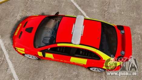 Mitsubishi Lancer Evo X Fire Department [ELS] pour GTA 4 est un droit