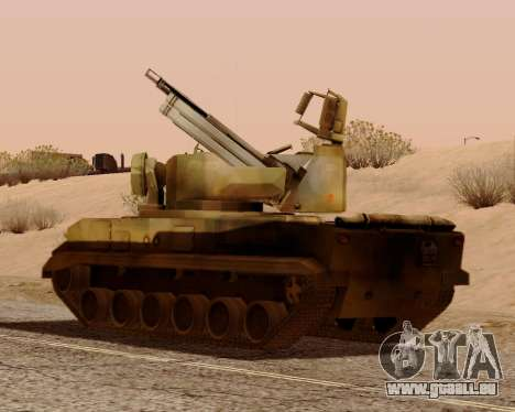 2S6 Tunguska für GTA San Andreas Innenansicht
