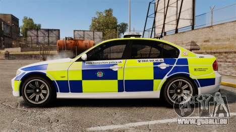 BMW 330i Hampshire Police [ELS] pour GTA 4 est une gauche