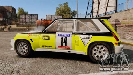 Renault 5 Turbo Maxi pour GTA 4 est une gauche