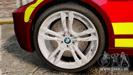 BMW M5 West Midlands Fire Service [ELS] pour GTA 4 Vue arrière