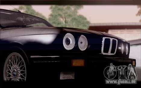 BMW M3 E30 Stock Version pour GTA San Andreas vue arrière