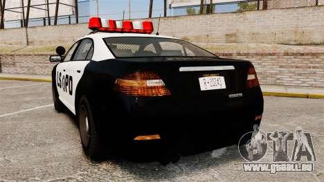 GTA V Vapid Police Interceptor LSPD pour GTA 4 Vue arrière de la gauche