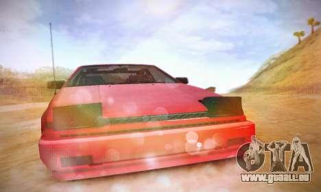 Toyota Corolla GT-S 1985 pour GTA San Andreas vue intérieure
