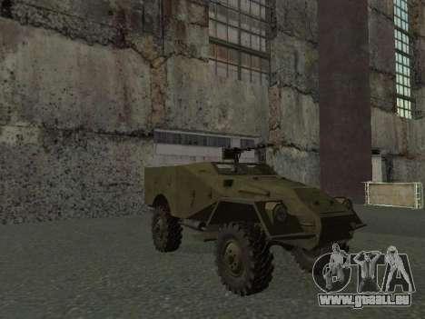 BTR-40 pour GTA San Andreas vue de dessus