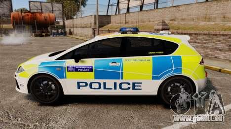Seat Cupra Metropolitan Police [ELS] pour GTA 4 est une gauche