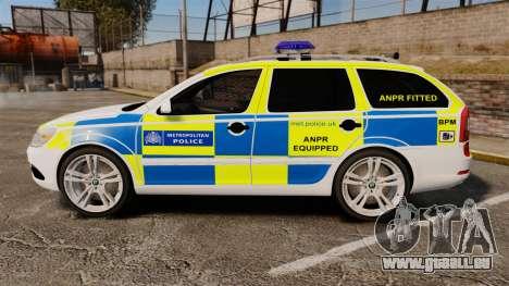 Skoda Octavia RS Metropolitan Police [ELS] für GTA 4 linke Ansicht