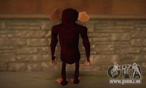Chimp pour GTA San Andreas deuxième écran