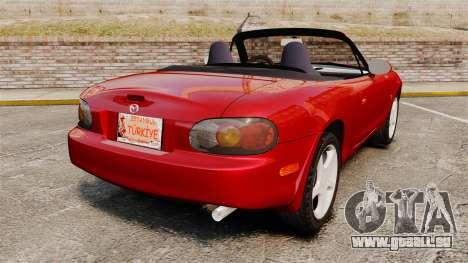 Mazda (Miata) MX-5 pour GTA 4 Vue arrière de la gauche