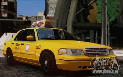 Ford Crown Victoria LA Taxi pour GTA San Andreas sur la vue arrière gauche