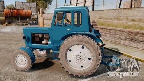 Traktor MTZ-80 für GTA 4 linke Ansicht