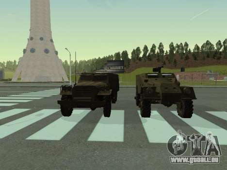 BTR-40 pour GTA San Andreas vue intérieure