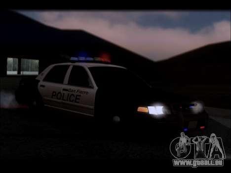 Ford Crown Victoria 2005 Police für GTA San Andreas Innen