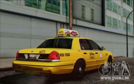 Ford Crown Victoria LA Taxi pour GTA San Andreas laissé vue