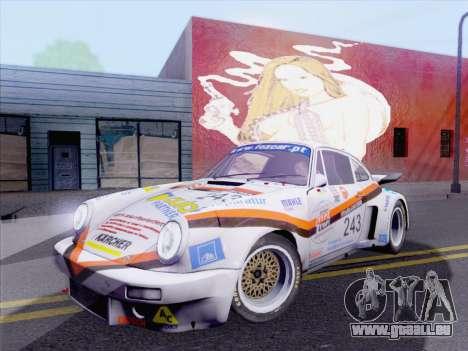 Porsche 911 RSR 3.3 skinpack 5 pour GTA San Andreas sur la vue arrière gauche