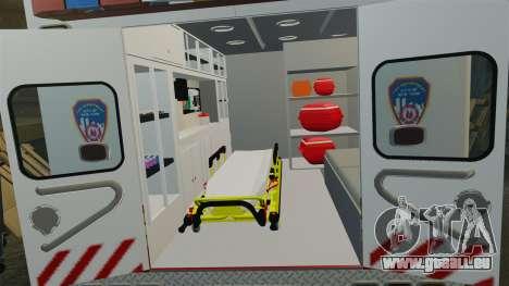 Ford F-350 2013 FDNY Ambulance [ELS] für GTA 4 Rückansicht