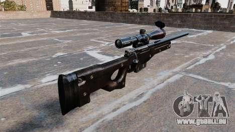 Fusil de sniper AI Arctic Warfare Magnum pour GTA 4 secondes d'écran