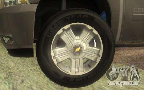 Chevrolet Cheyenne LT 2012 pour GTA San Andreas vue de droite