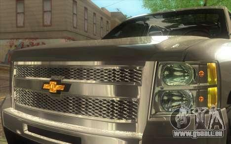 Chevrolet Cheyenne LT 2012 pour GTA San Andreas vue arrière