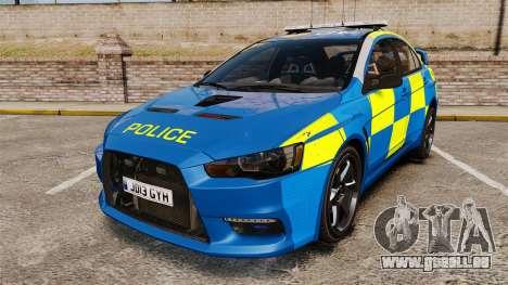 Mitsubishi Lancer Evo X Humberside Police [ELS] pour GTA 4