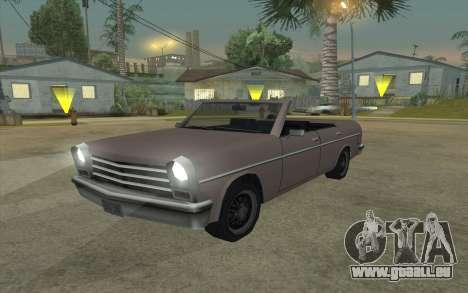 Perennial Cabriolet pour GTA San Andreas