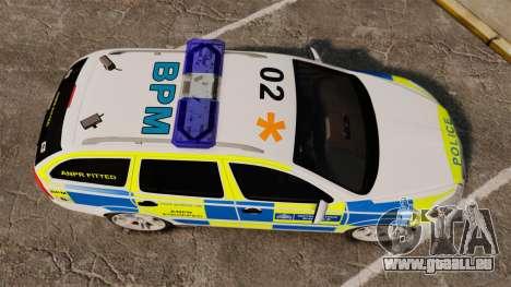 Skoda Octavia RS Metropolitan Police [ELS] für GTA 4 rechte Ansicht