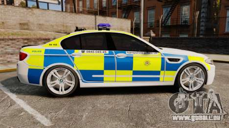 BMW M5 Marked Police [ELS] pour GTA 4 est une gauche
