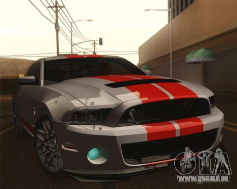 Ford Shelby GT500 2013 für GTA San Andreas obere Ansicht