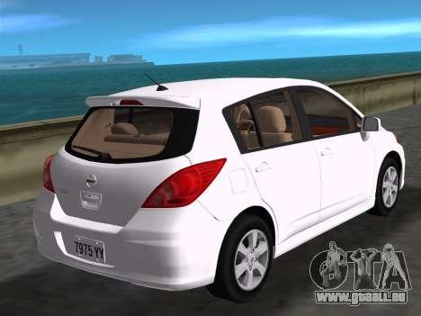 Nissan Tiida pour une vue GTA Vice City de la gauche