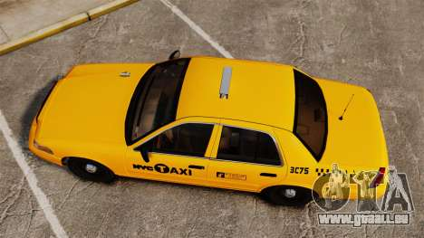 Ford Crown Victoria 1999 NYC Taxi für GTA 4 rechte Ansicht