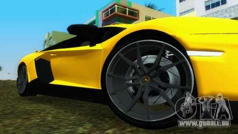 Lamborghini Aventador LP720-4 50th Anniversario pour une vue GTA Vice City de la droite