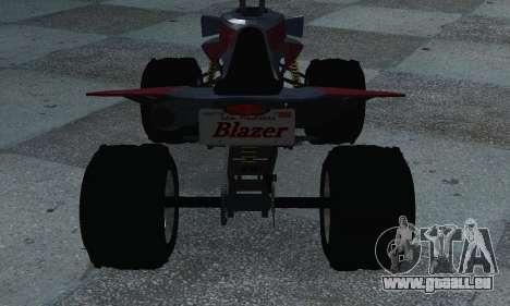 GTA 5 Blazer ATV pour GTA San Andreas sur la vue arrière gauche