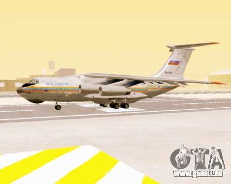 Il-76td EMERCOM de Russie pour GTA San Andreas sur la vue arrière gauche